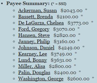 Payee Summary